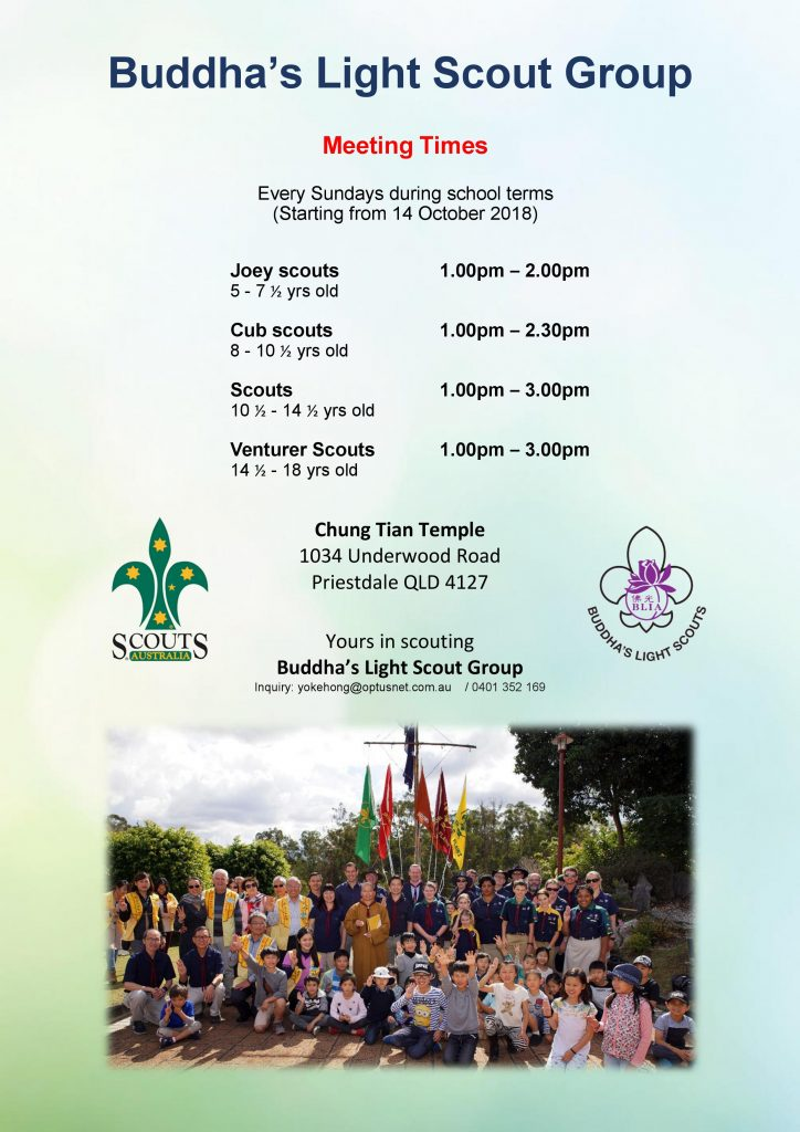 Buddhas's Light Scout Group Meetings